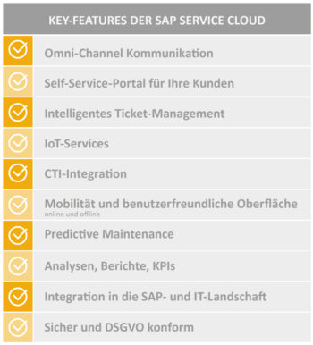 UNIORG SAP Field Service Management Key-Features