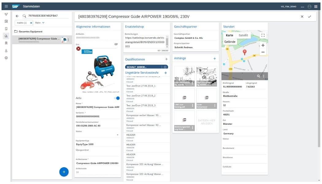 SAP FSM - Equipment-Details