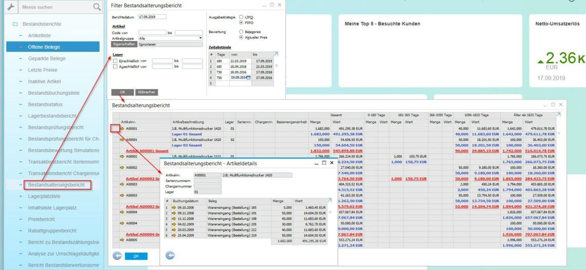 UNIORG Blog: SAP Business One Bestandsalterungsbericht HANA