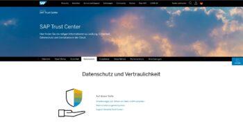 UNIORG Screenshot: SAP S/4HANA Cloud - SAP Trust Center