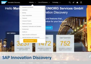 UNIORG S/4HANA Onpage Teaser SAP Innovation Discovery