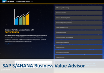 UNIORG S/4HANA Onpage Teaser Business Value Advisor